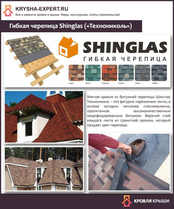 Гибкая черепица Shinglas («Технониколь»)