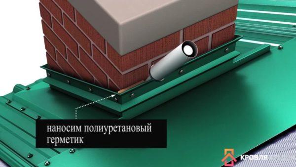 Нанесение полиуретанового герметика