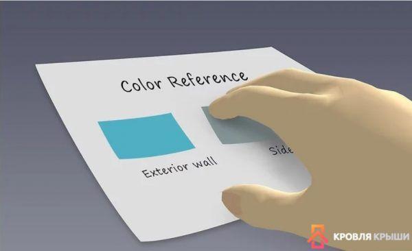 Подбор цвета в соответствии с проектом