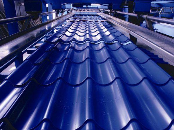 Процесс изготовления металлочерепицы