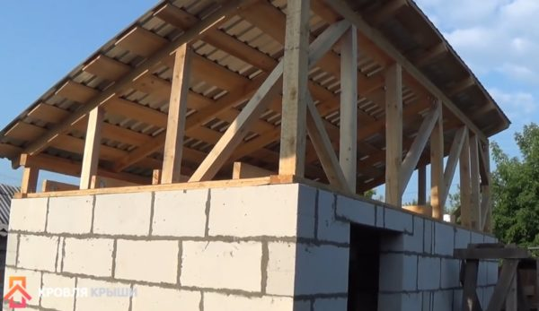 Укрепленный бок крыши
