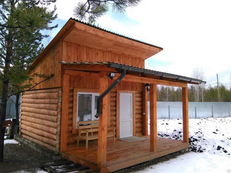 Крыша для бани односкатная - схемы, расчеты, монтаж своими руками