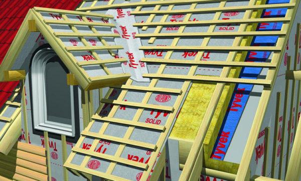 Обеспечение гидроизоляции металлочерепичной крыши при помощи проходного элемента и гидроизоляционной пленки