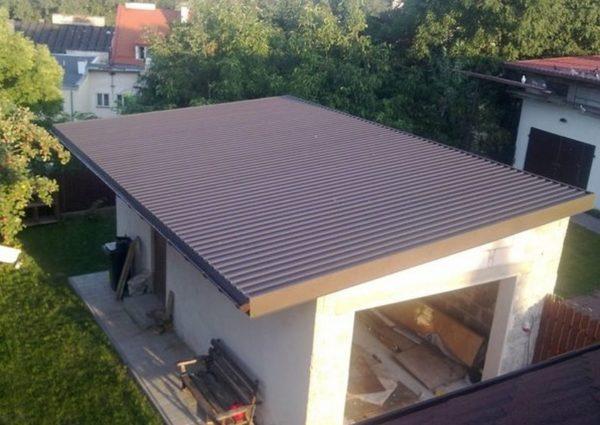 Односкатные крыши из профнастила
