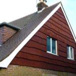 Отделка фронтона крыши