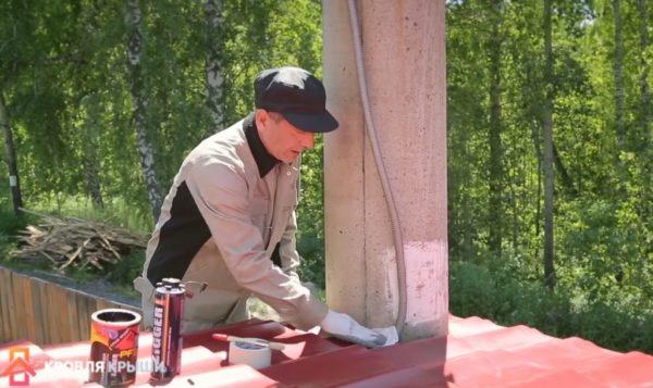 Подготовка поверхности к нанесению герметика