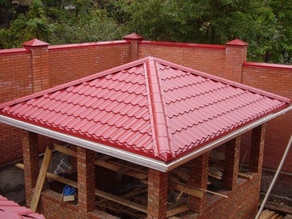 Шатровая крыша для беседки