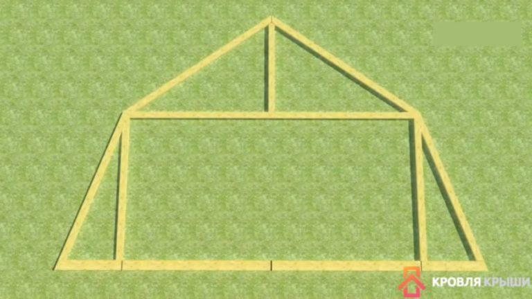 Как собрать сложную ломанную крышу своими руками