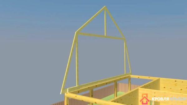 Установка готовой конструкции