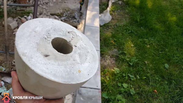 Бетонная опора для колонны