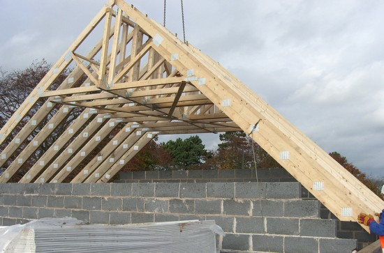 Пример стропильной системы двухскатной крыши