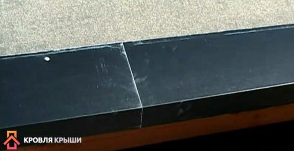 Планки монтируются с нахлестом 5 см