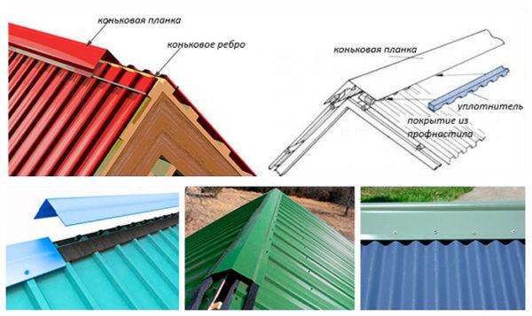 Самый главный доборный элемент для крыши из профнастила – коньковая планка