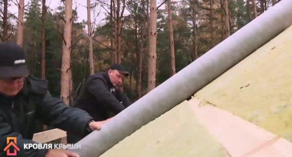 Монтаж ветрозащиты