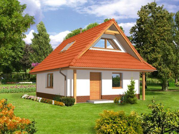 В датскую крышу можно встроить полноценные вертикальные окна
