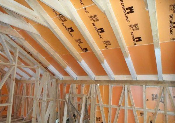 Экструдированный пенополистирол использован для утепления крыши