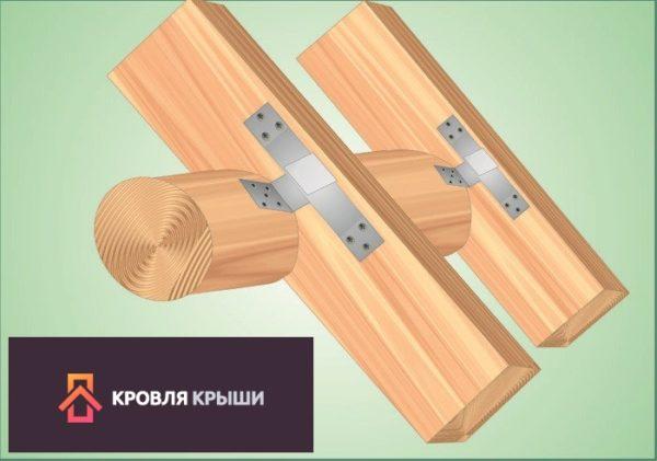 Схема - стропила со скользящей опорой и пропилами