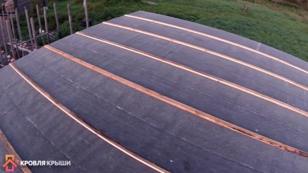 Результат: крыша, покрытая рубероидом