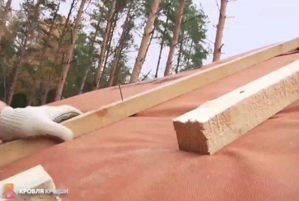 В брусках через каждые 2 метра делают разрывы 10 см