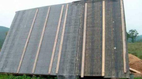 Крепление деревянными рейками