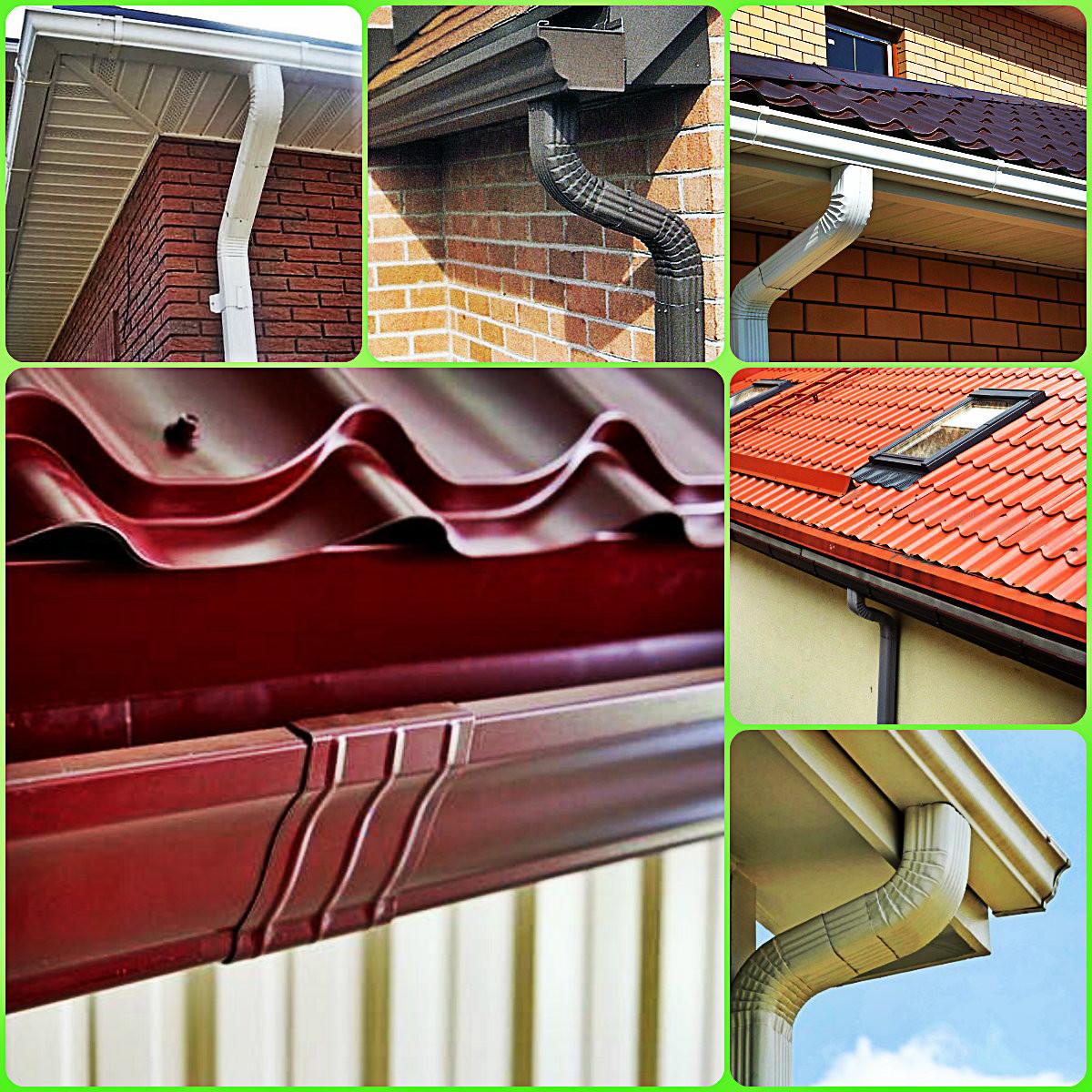 Сливные желоба для крыши