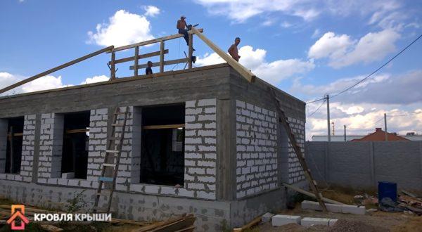 Вид на строительство