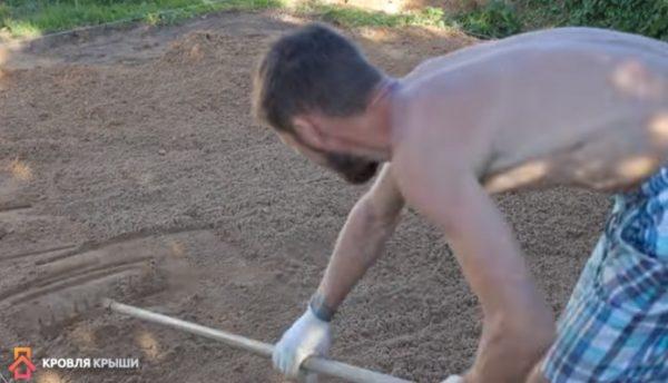 Выравнивание песка