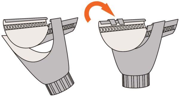 Крепление воронки водосточной трубы