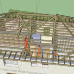 Вальмовая крыша на плитах перекрытия