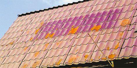 Выцветание крыши