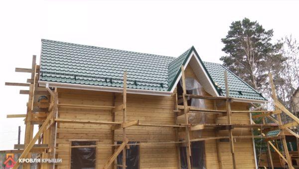 Система снегозадержания на крыше частного дома