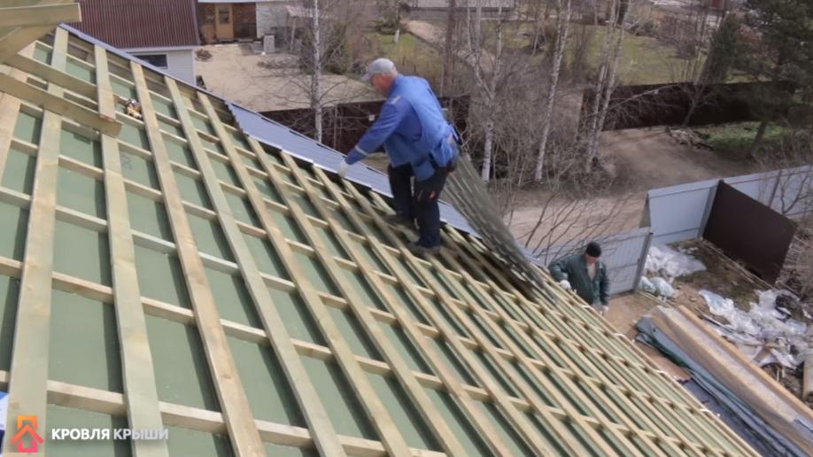 металлочерепица на крышу как правильно уложить