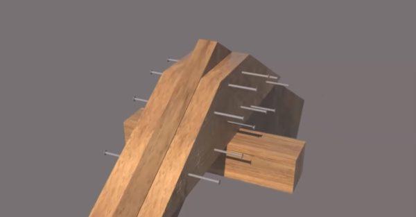 Крепление деревянных накладок