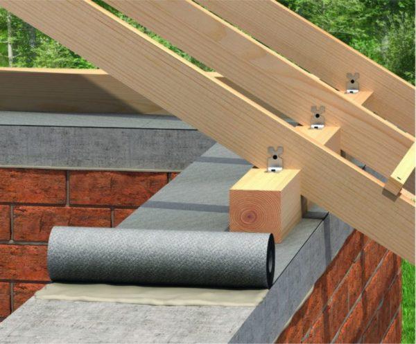 Мауэрлат помогает равномерно распределять нагрузку по всему периметру стен