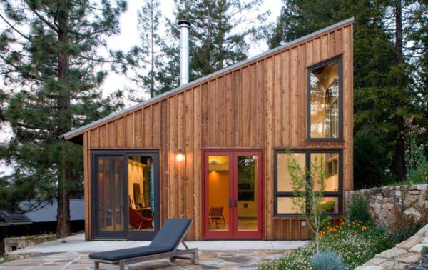 Проект дома с односкатной крышей.