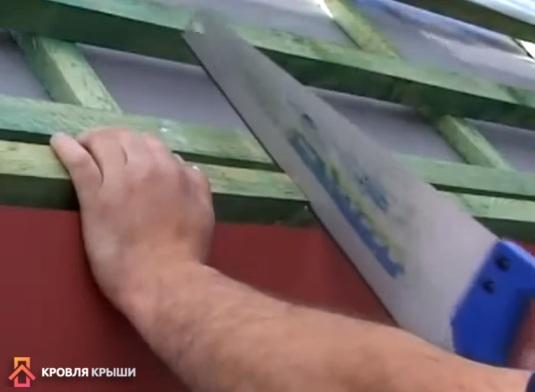 Пропил можно сделать ножовкой