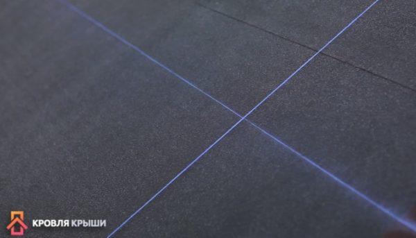 Отбивка вертикальной линии