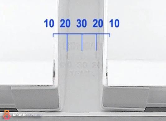 Расстояние между заглушками