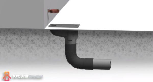 Приемная воронка и система водоотведения