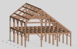 Асимметричная стропильная система двухскатной крыши