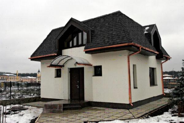 Четырехскатная крыша с мансардой