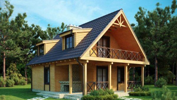 Фото мансардной крыши с балконом