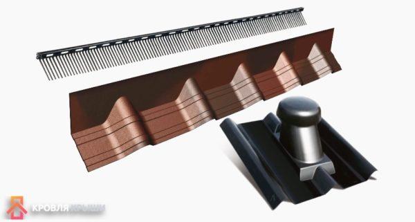 Доборные элементы для вентиляции и конька