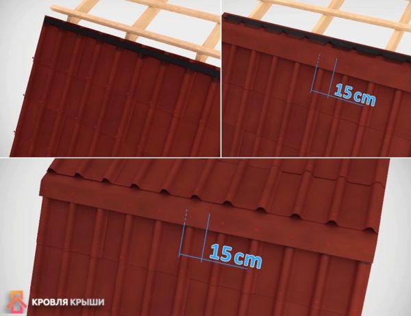 Внешние изломы скатов крыши