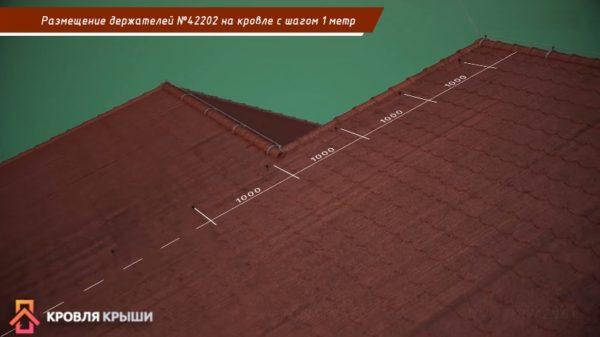Расстояние между элементами также примерно один метр