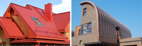 Фальцевые кровли отлично подходят для крыш сложной формы и нестандартной конфигурации