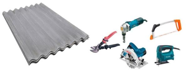 Для резки шифера можно использовать несколько различных инструментов