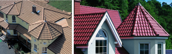 Черепичные крыши смотрятся дорого и привлекательно