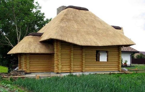 Камышовая крыша в частном доме