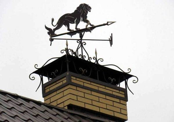 Красивый колпак на дымоход придает всей кровле эстетичный вид, соответственно, дом с такой крышей выглядит стильно и оригинально